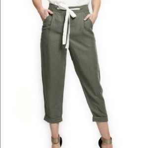 NWT:  Black Tape size small linen trousers